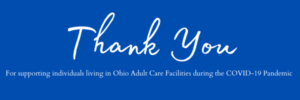 Thank You for Supporting Individuals Living on Ohio ACF's!